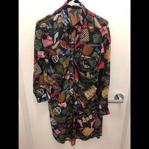 Colourful funky shirt S